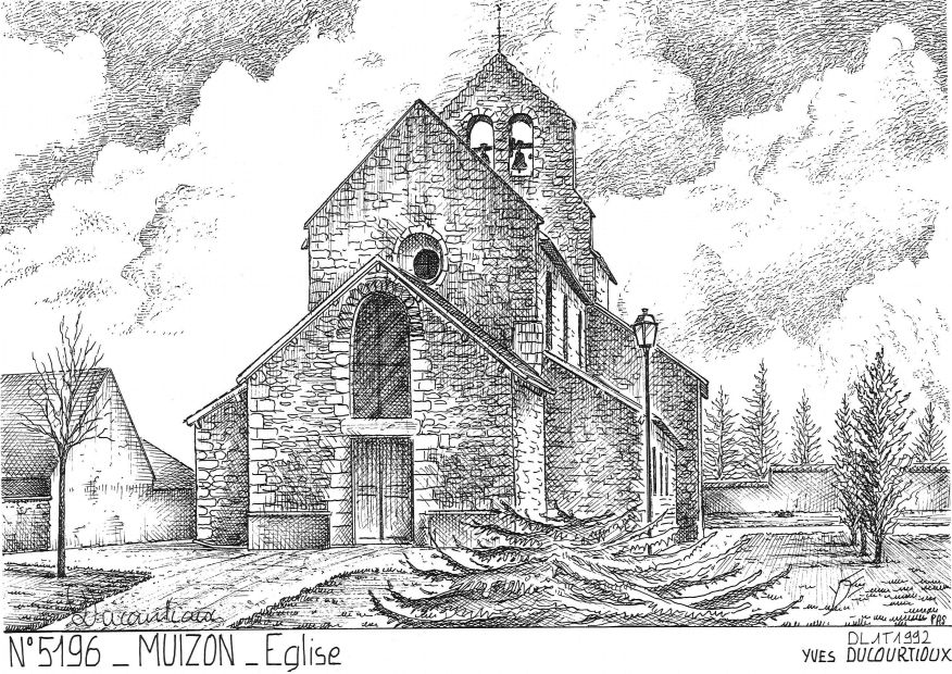 Carte Postale N° 51096 - MUIZON - église