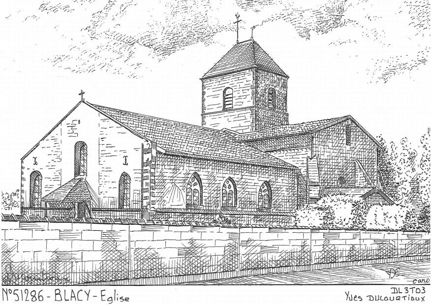 Carte Postale N° 51286 - BLACY - église