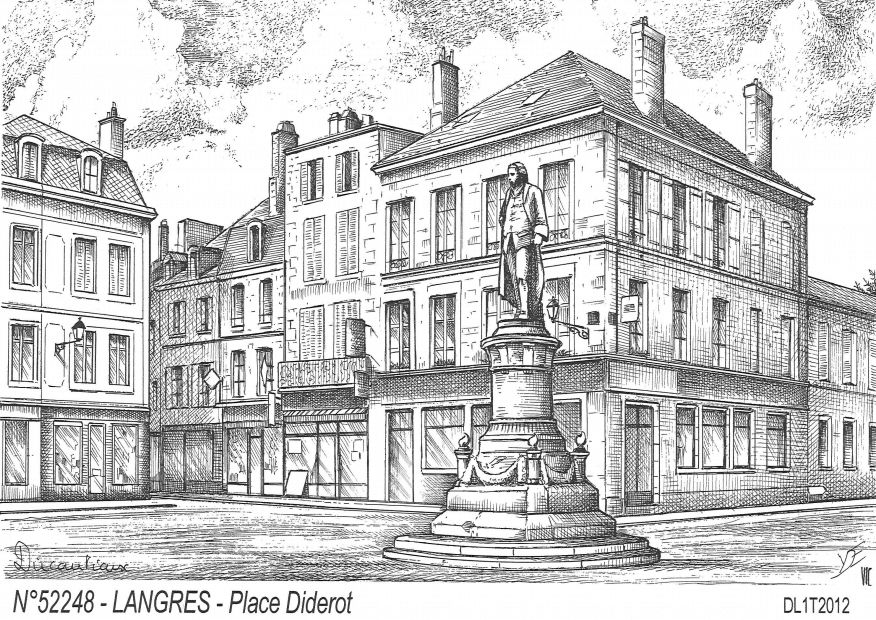 Cartes postales LANGRES - place diderot