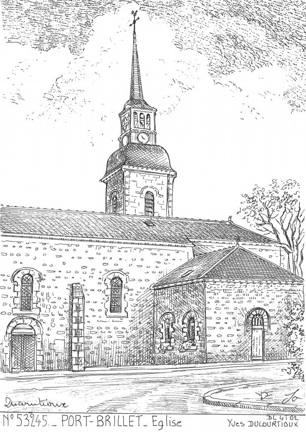 Carte Postale N° 53245 - PORT BRILLET - église