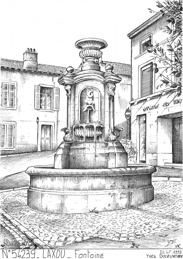 Carte Postale N° 54239 - LAXOU - fontaine