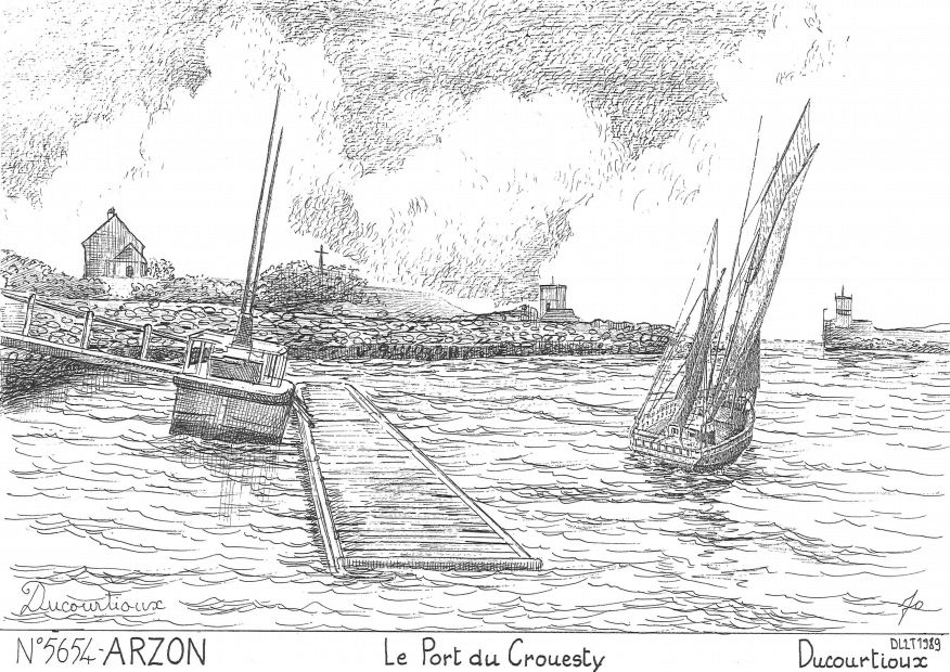 Cartes postales ARZON - le port du crouesty