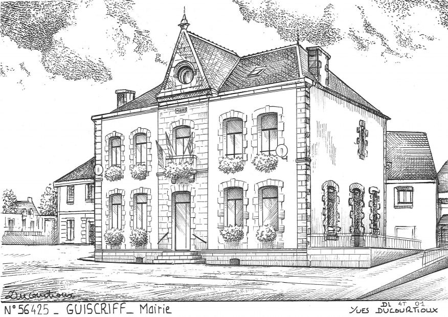 Carte Postale N° 56425 - GUISCRIFF - mairie
