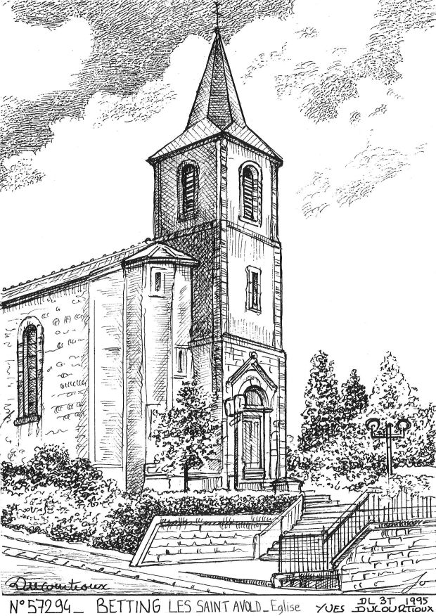 Carte Postale N° 57294 - BETTING LES ST AVOLD - église