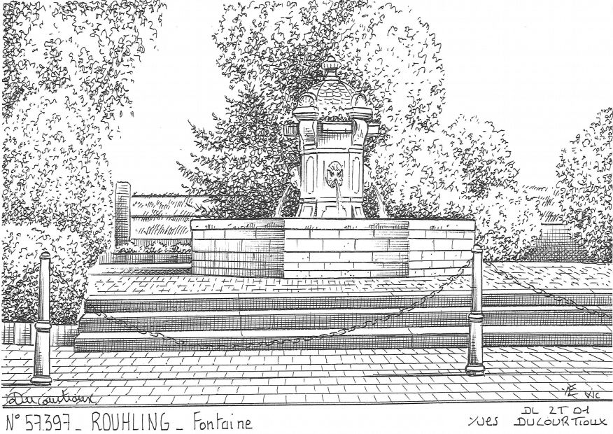 Carte Postale N° 57397 - ROUHLING - fontaine