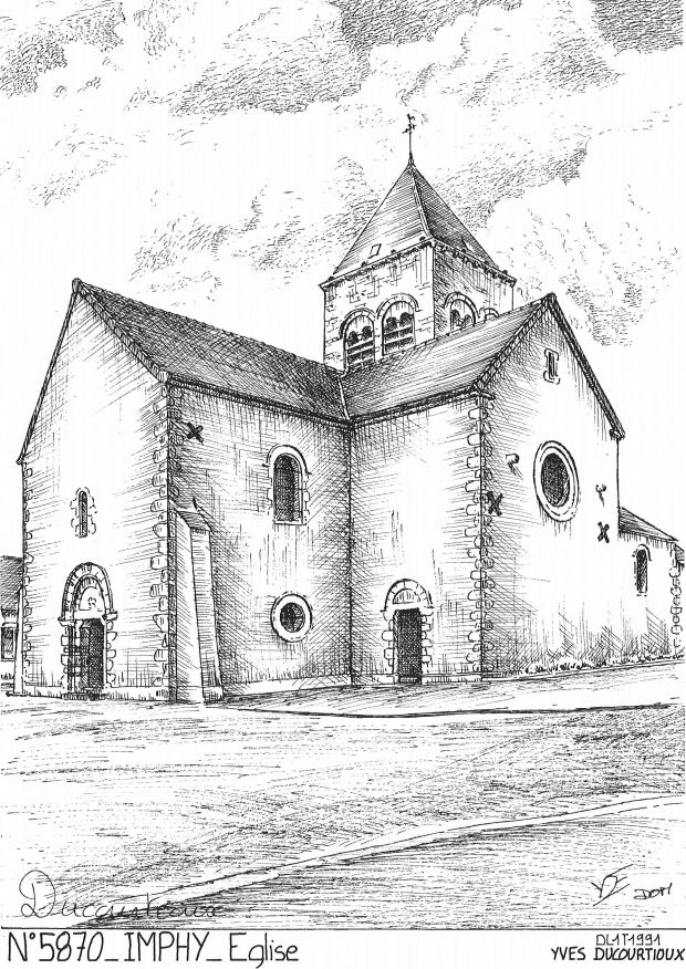 Cartes postales IMPHY - église