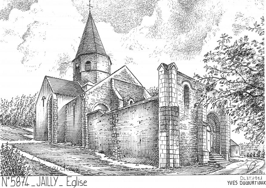 Cartes postales JAILLY - église