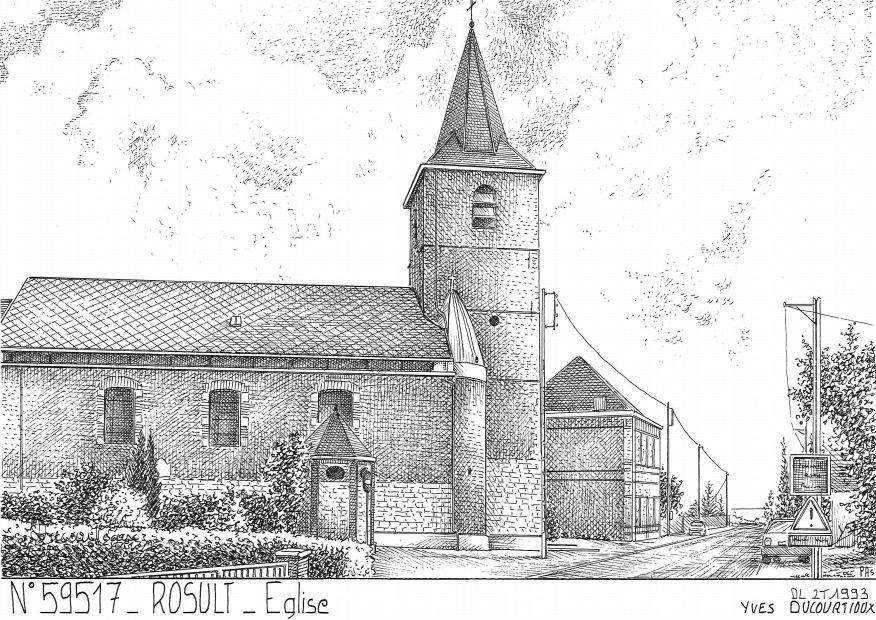 Cartes postales ROSULT - église