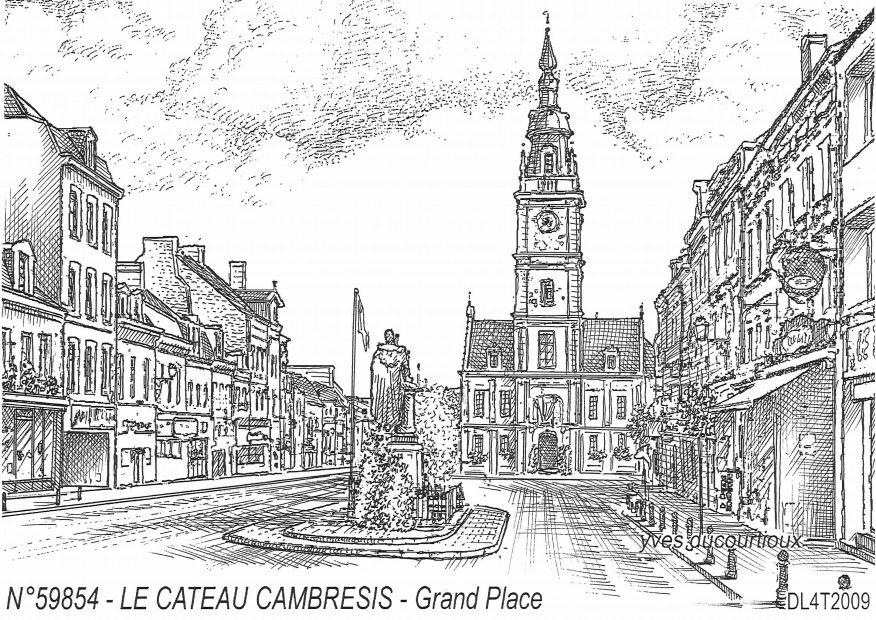 Cartes postales LE CATEAU CAMBRESIS - grand place