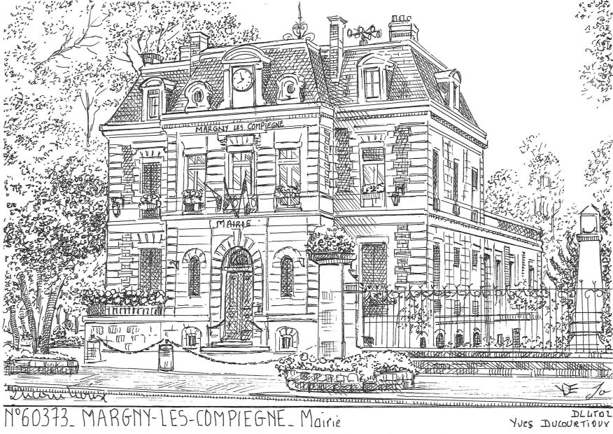 Carte Postale N° 60373 - MARGNY LES COMPIEGNE - mairie