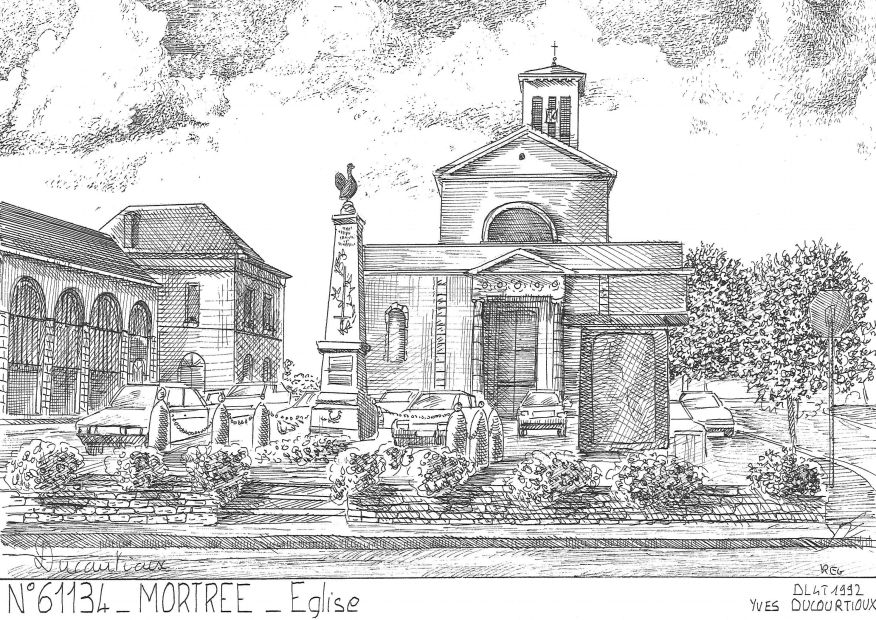 Carte Postale N° 61134 - MORTREE - église
