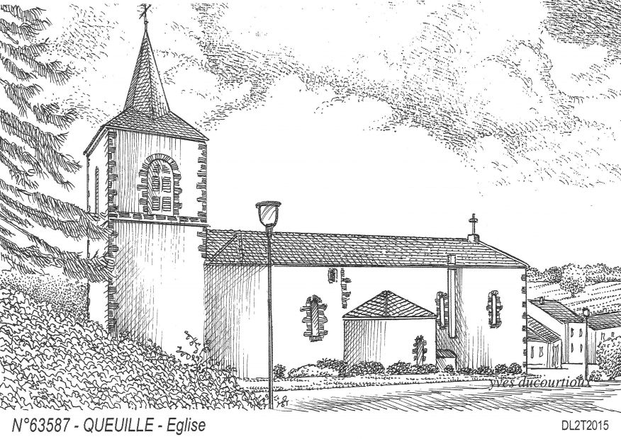 Carte Postale N° 63587 - QUEUILLE - église