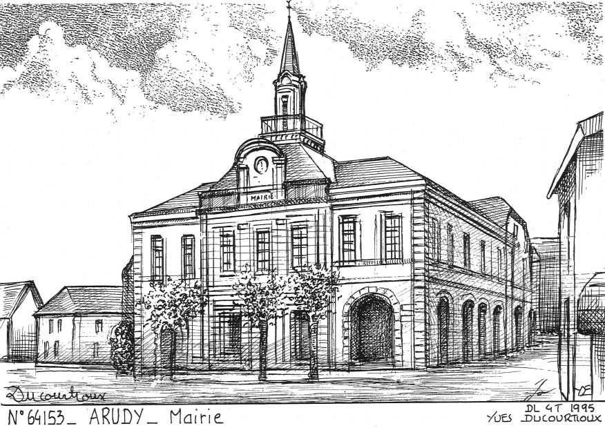 Cartes postales ARUDY - mairie