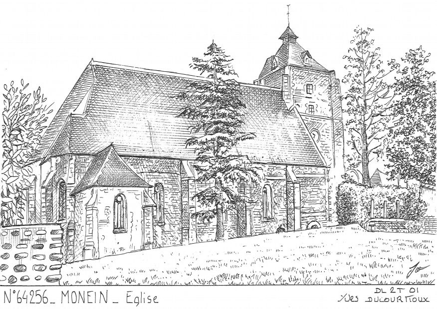 Cartes postales MONEIN - église