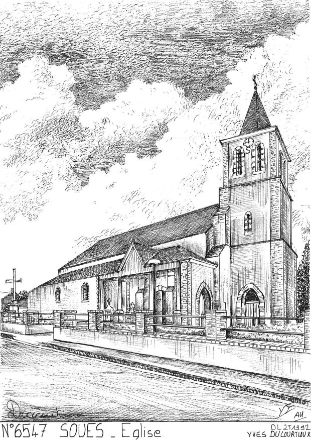 Carte Postale N° 65047 - SOUES - église