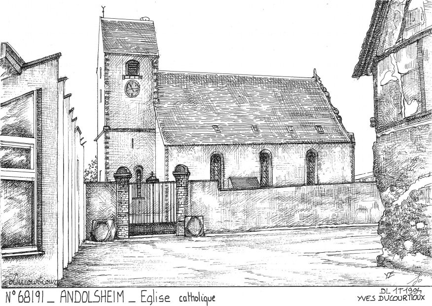 Cartes postales ANDOLSHEIM - église catholique