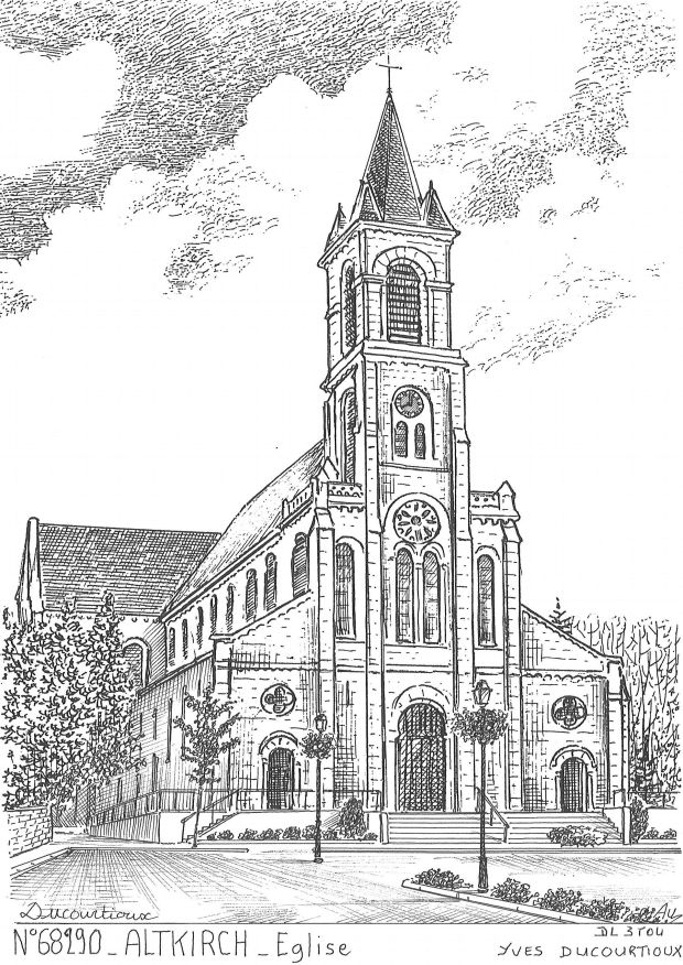 N° 68290 - ALTKIRCH - église