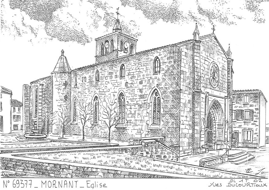 Carte Postale N° 69377 - MORNANT - église