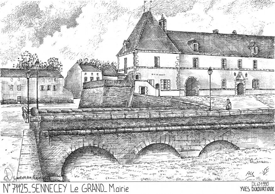 Carte Postale N° 71125 - SENNECEY LE GRAND - mairie