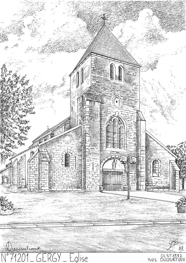 Carte Postale N° 71201 - GERGY - église