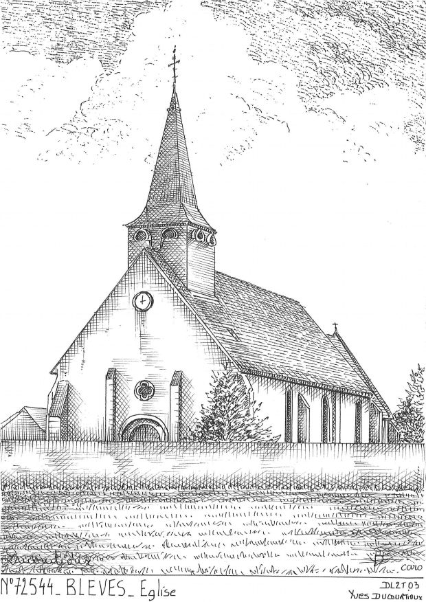 Carte Postale N° 72544 - BLEVES - église