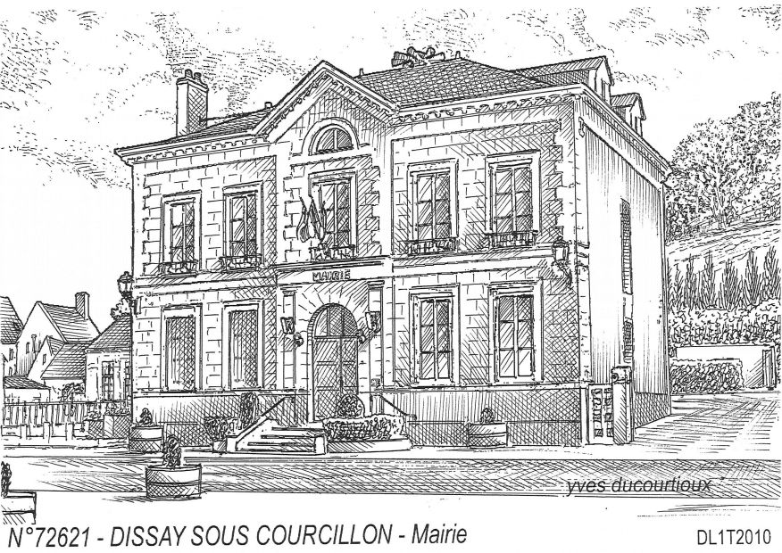 N° 72621 - DISSAY SOUS COURCILLON - mairie