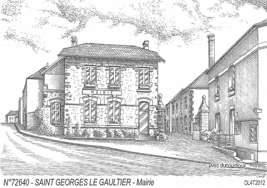Carte Postale N° 72640 - ST GEORGES LE GAULTIER - mairie
