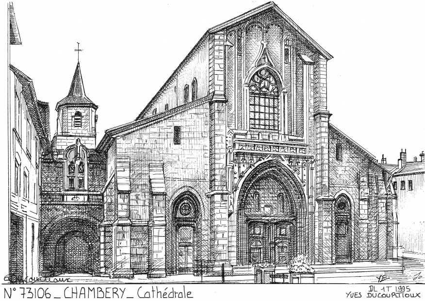 Cartes postales CHAMBERY - cathédrale