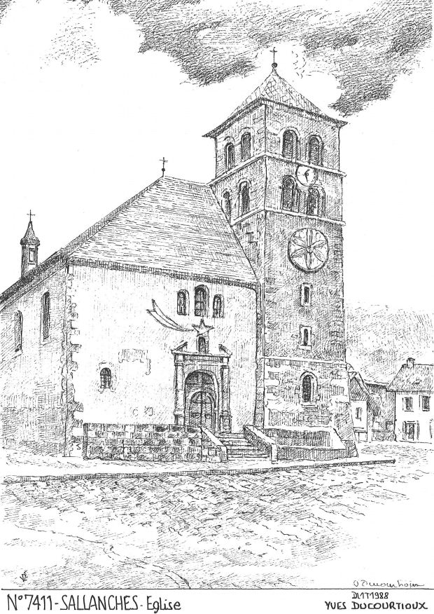 Carte Postale N° 74011 - SALLANCHES - église