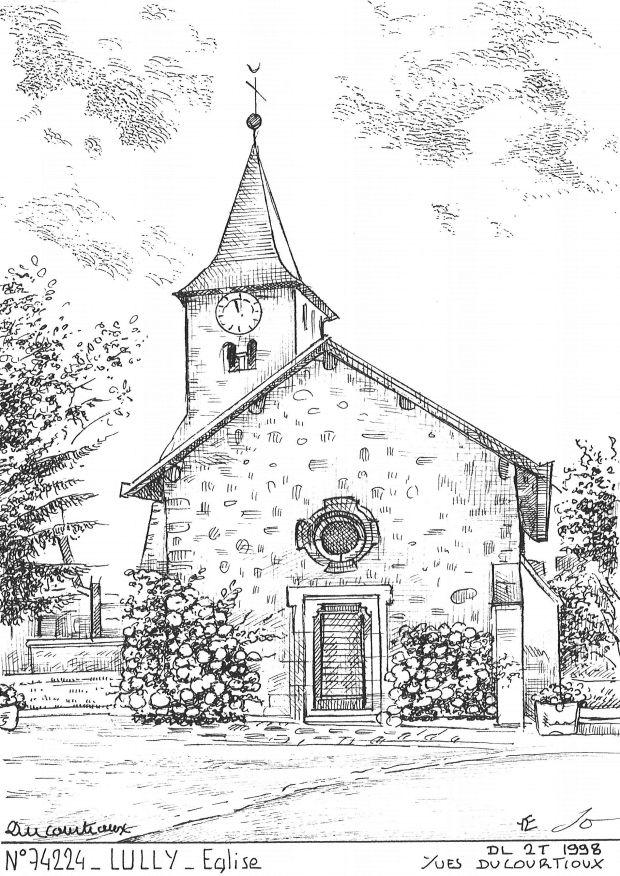 Carte Postale N° 74224 - LULLY - église