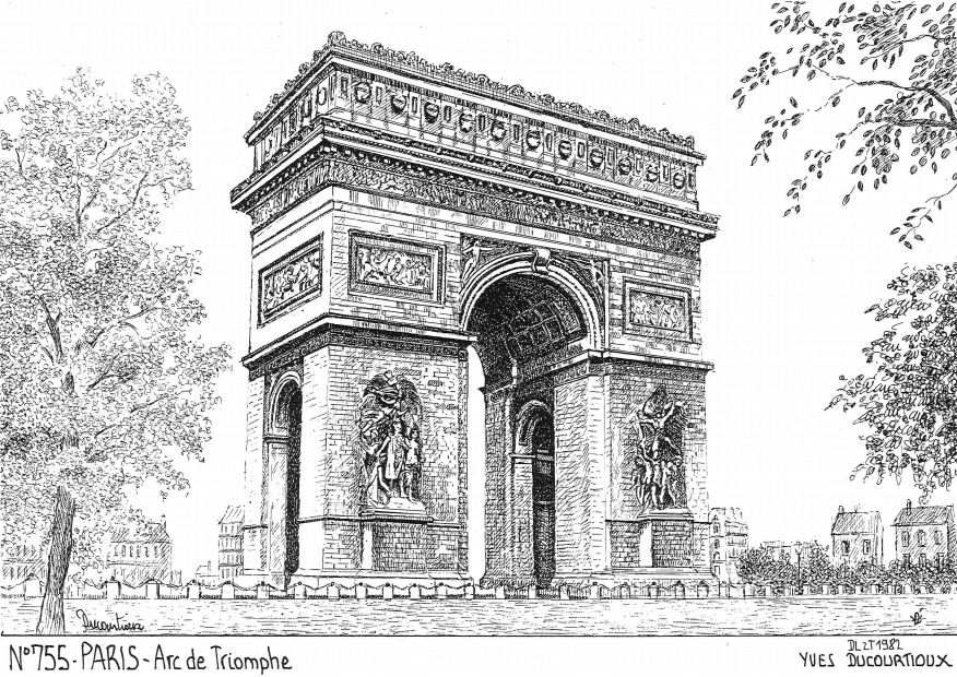 Carte Postale N° 75005 - PARIS - arc de triomphe