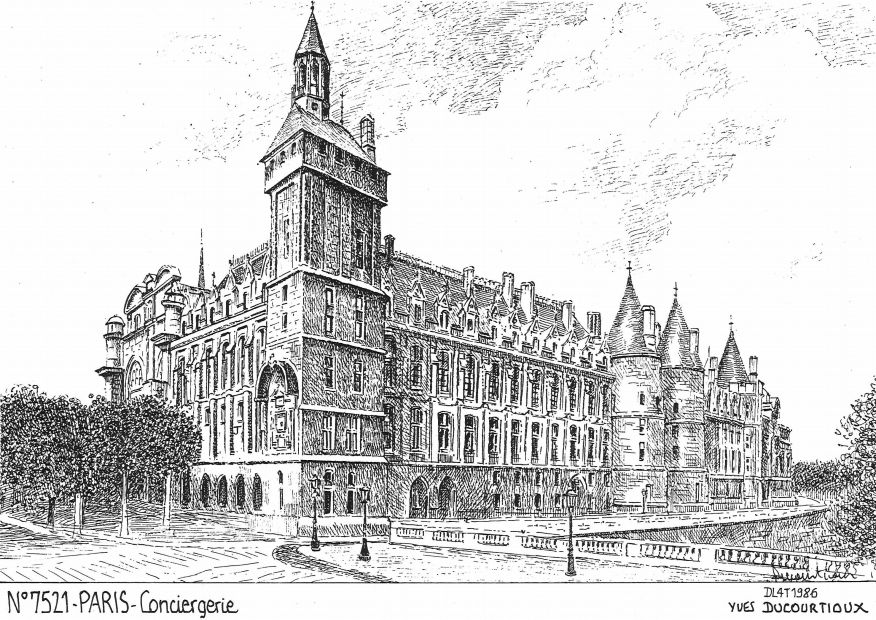 Carte Postale N° 75021 - PARIS - conciergerie