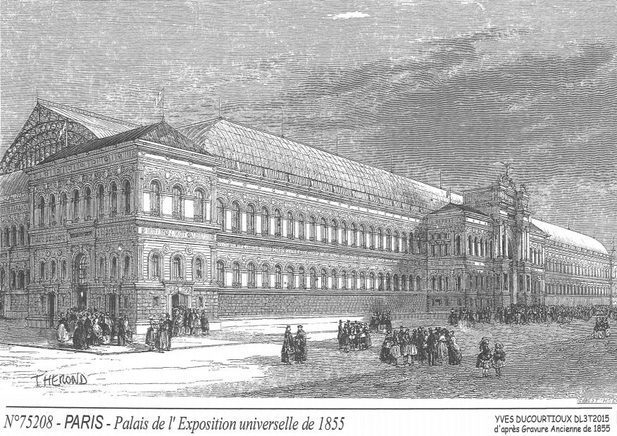 Cartes postales PARIS - palais expo universelle 1855²