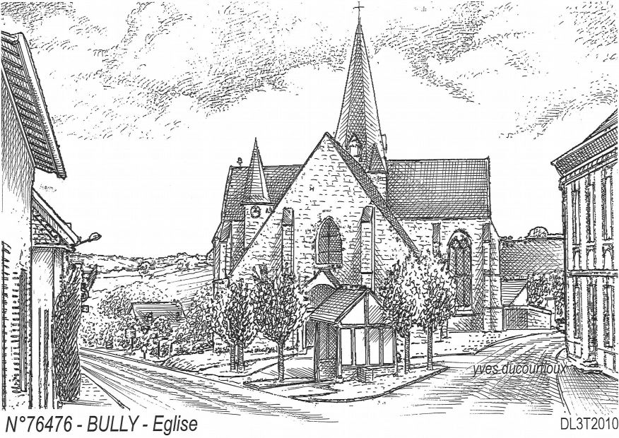 Carte Postale N° 76476 - BULLY - église