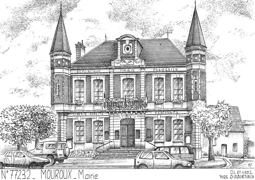 Carte Postale N° 77232 - MOUROUX - mairie