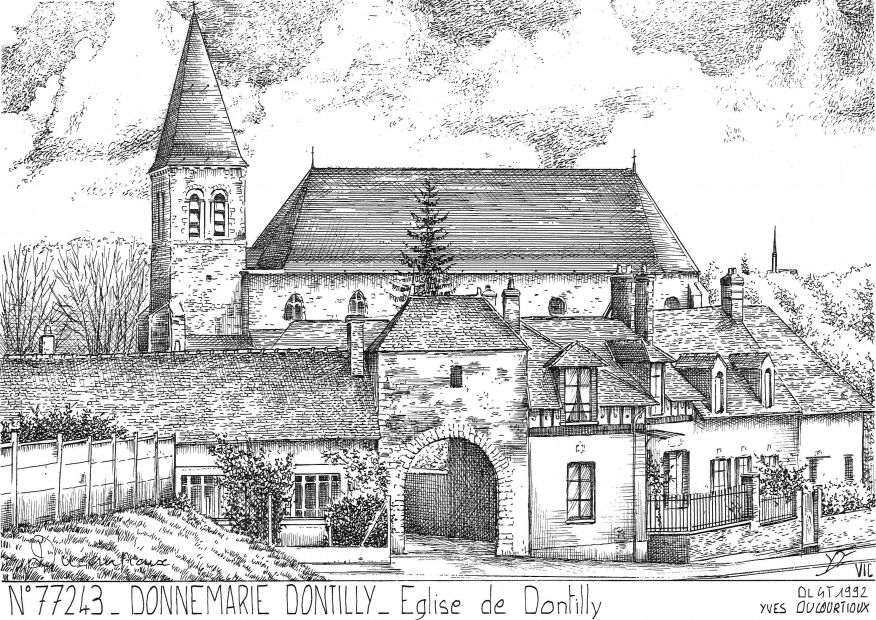 Carte Postale N° 77243 - DONNEMARIE DONTILLY - église de dontilly