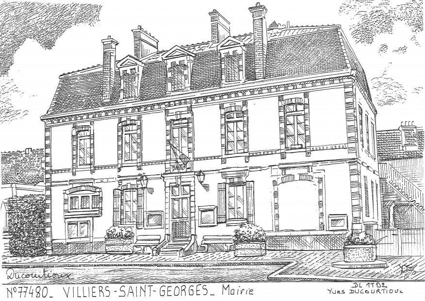 Cartes postales VILLIERS ST GEORGES - mairie