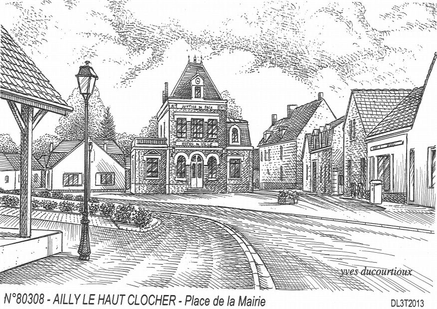 Cartes postales AILLY LE HAUT CLOCHER - place de la mairie