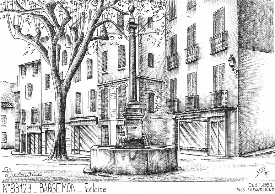 Carte Postale N° 83123 - BARGEMON - fontaine