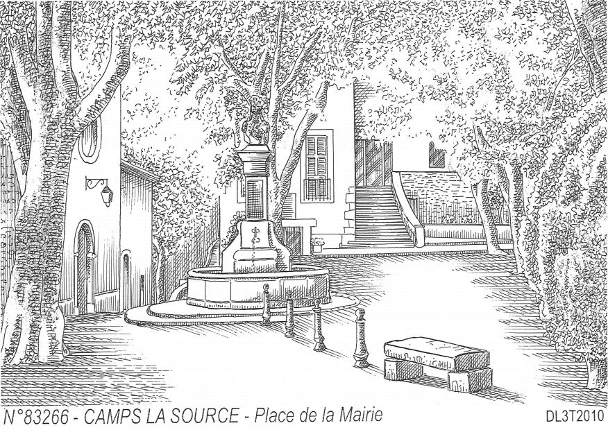 Cartes postales CAMPS LA SOURCE - place de la mairie