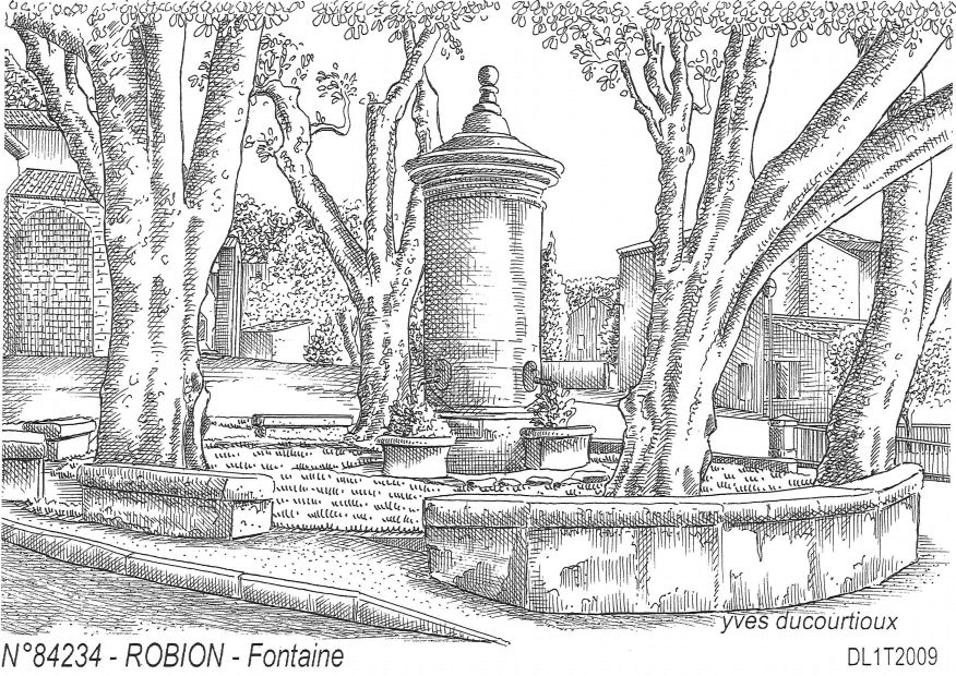 Carte Postale N° 84234 - ROBION - fontaine