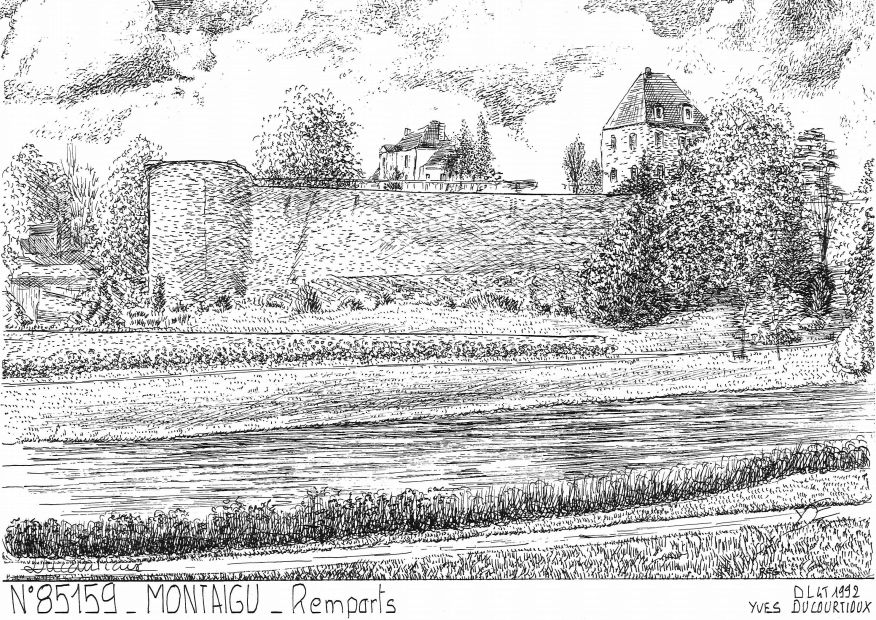 Cartes postales MONTAIGU - remparts