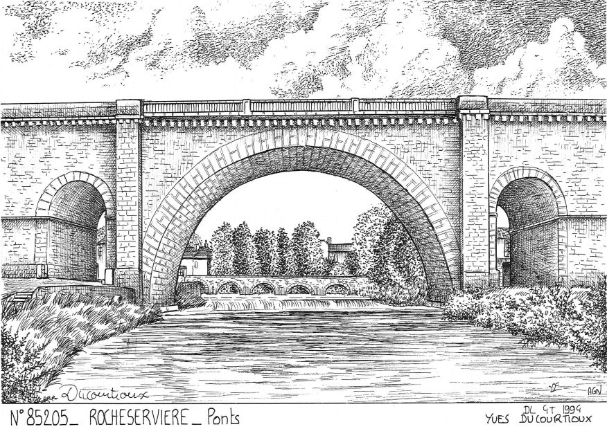 Carte Postale N° 85205 - ROCHESERVIERE - ponts