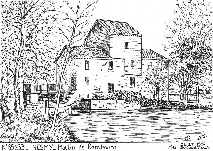 Cartes postales NESMY - moulin de rambourg