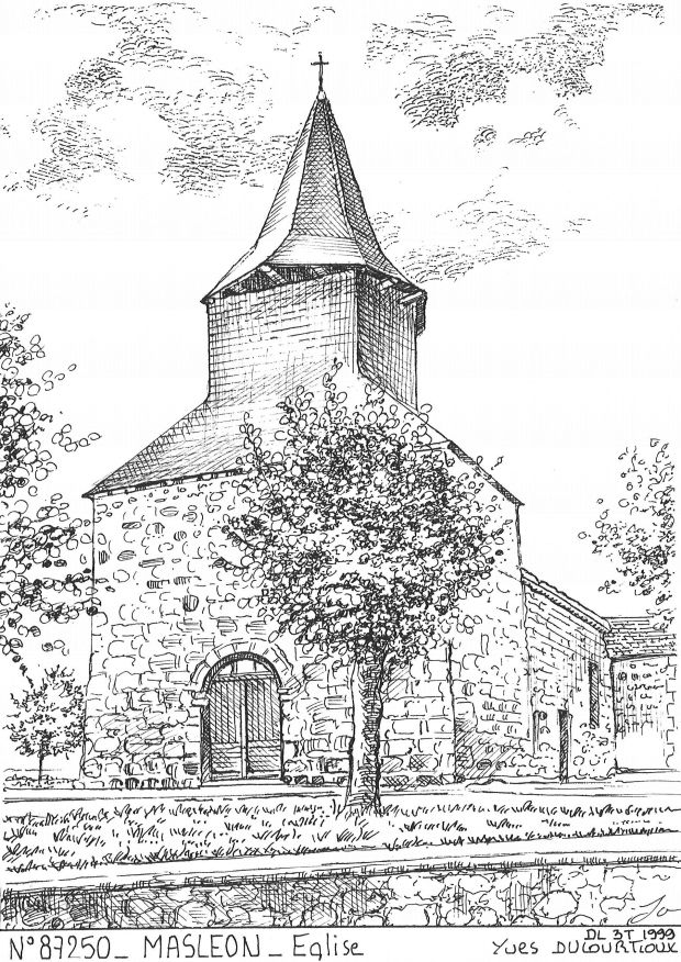 Cartes postales MASLEON - église