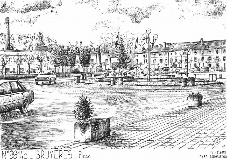 Cartes postales BRUYERES - place