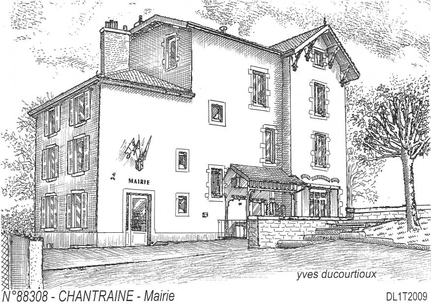 Carte Postale N° 88308 - CHANTRAINE - mairie