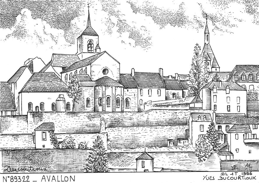 Cartes postales AVALLON - vue
