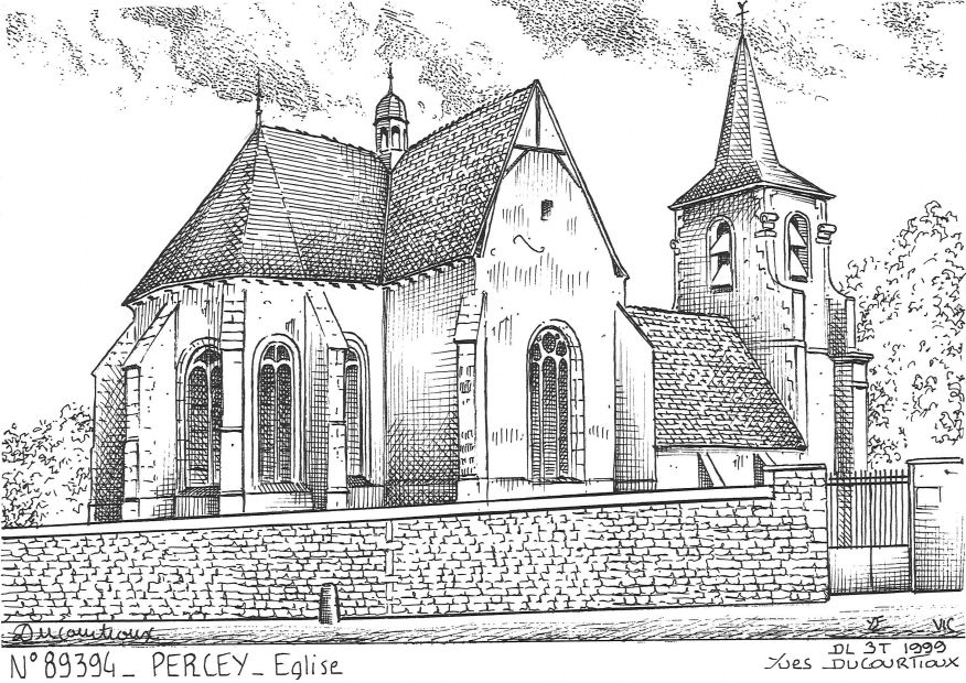 Cartes postales PERCEY - église