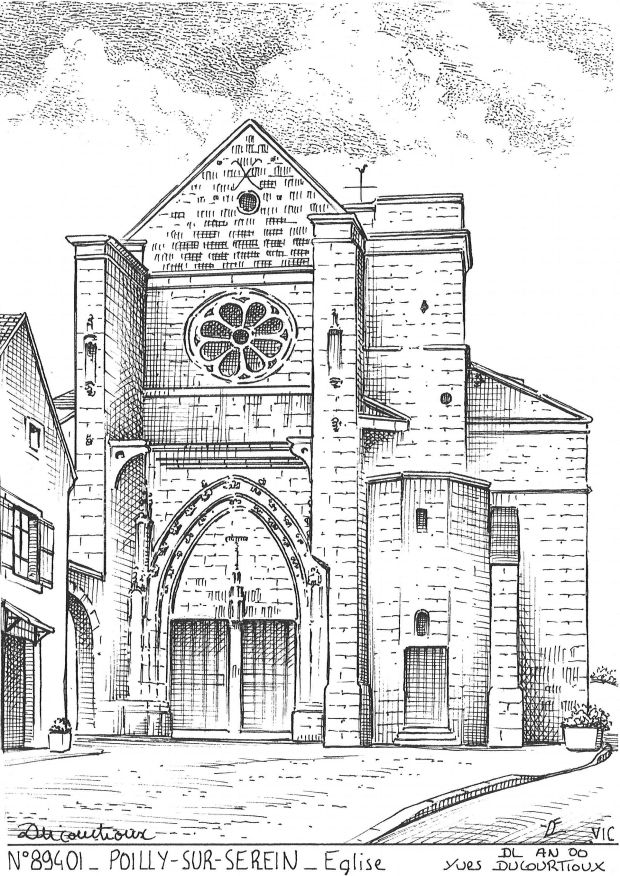 Carte Postale N° 89401 - POILLY SUR SEREIN - église